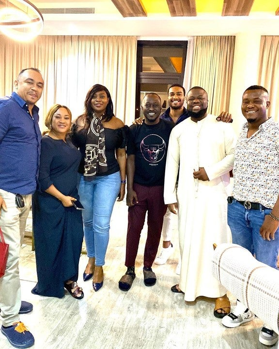 Daddy Freeze posing with Hushpuppi