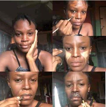 Nigerian Makeup Artist Turns Her Face To Buhari (Photos)