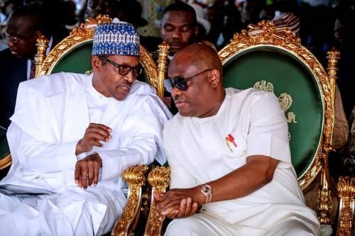 President Muhammadu Buhari and Governor Nyesom Wike