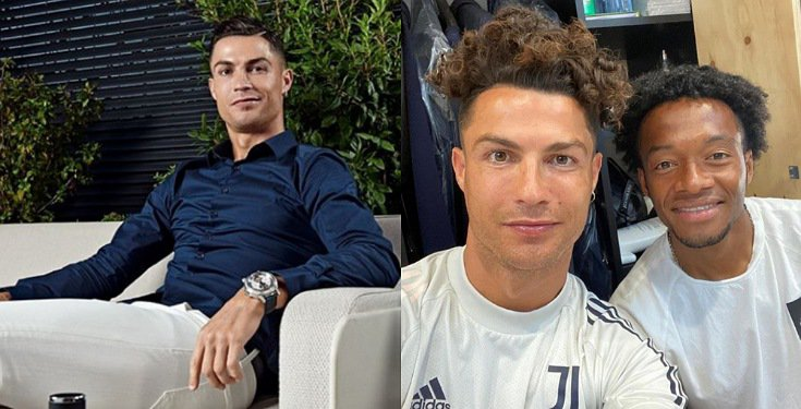 Ronaldo flaunts his new hairstyle