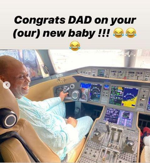 Davido's dad acquires a new private jet