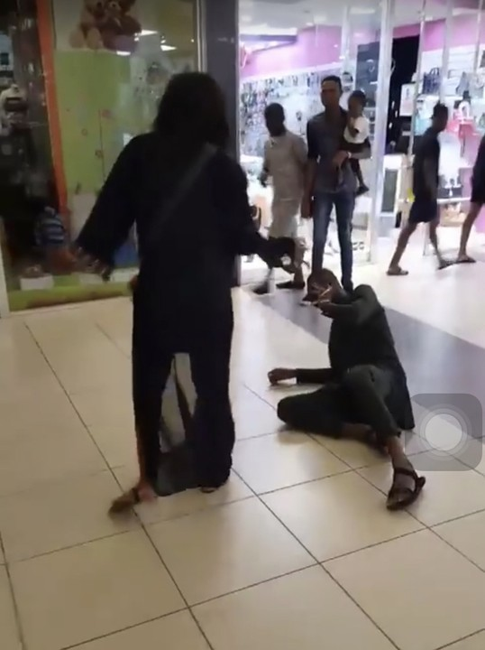 The woman slapped the man for proposing to her