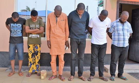 Yahoo boys arrested in Ibadan