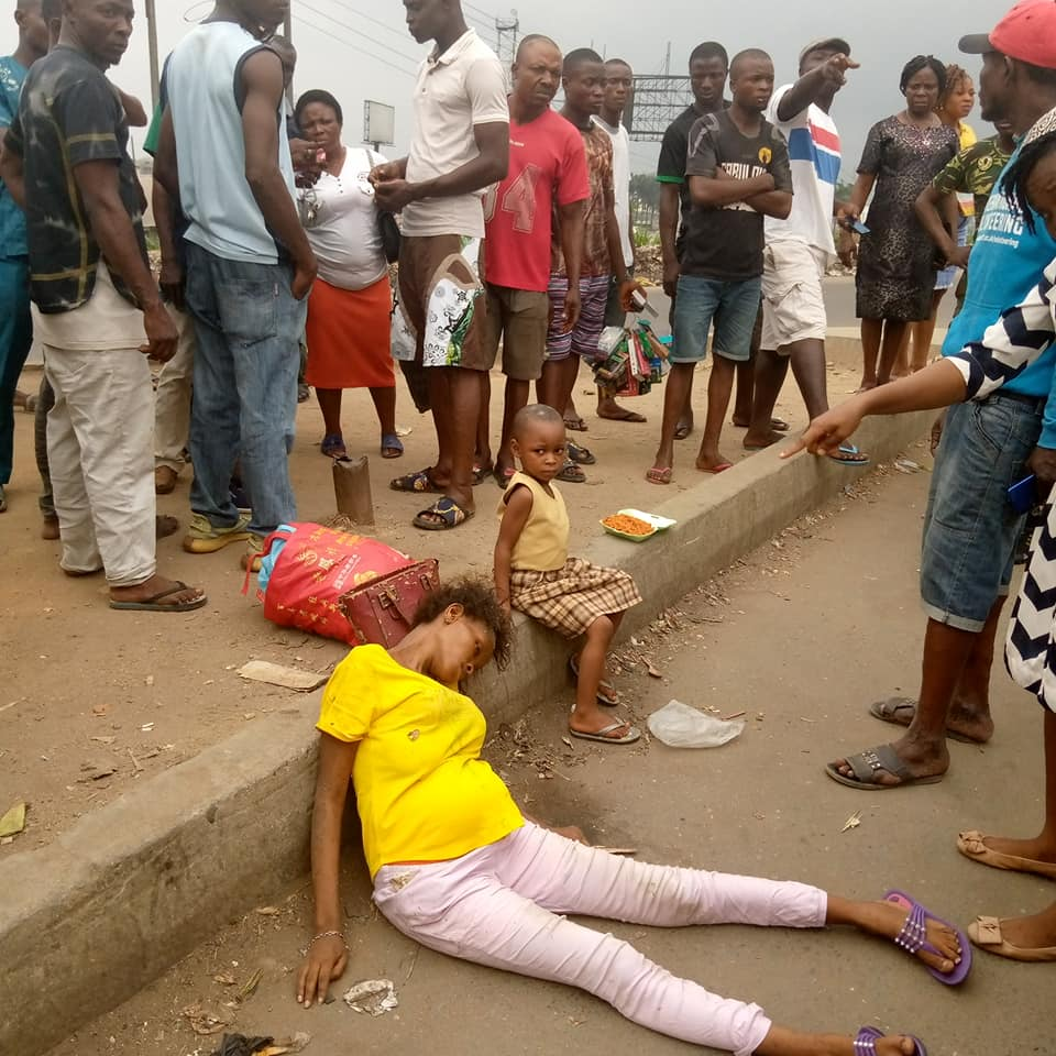The unidentified woman dumped at the road