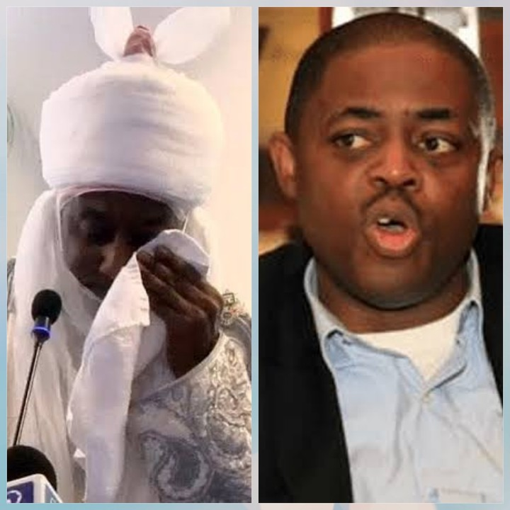 Deposed former Emir of Kano, Muhammad Sanusi and Femi Fani-Kayode