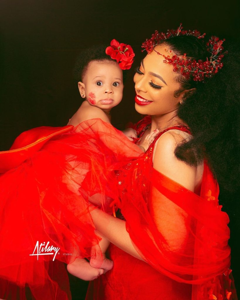 Tboss and her baby girl