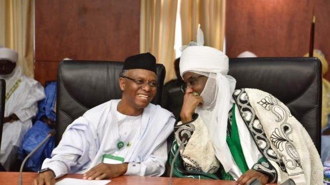 Governor Nasir El-Rufai and deposed Emir Sanusi