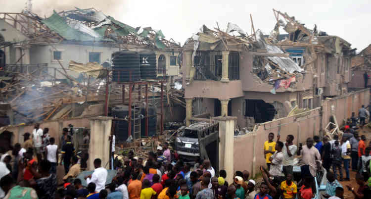 Abule-Ado explosion in Lagos