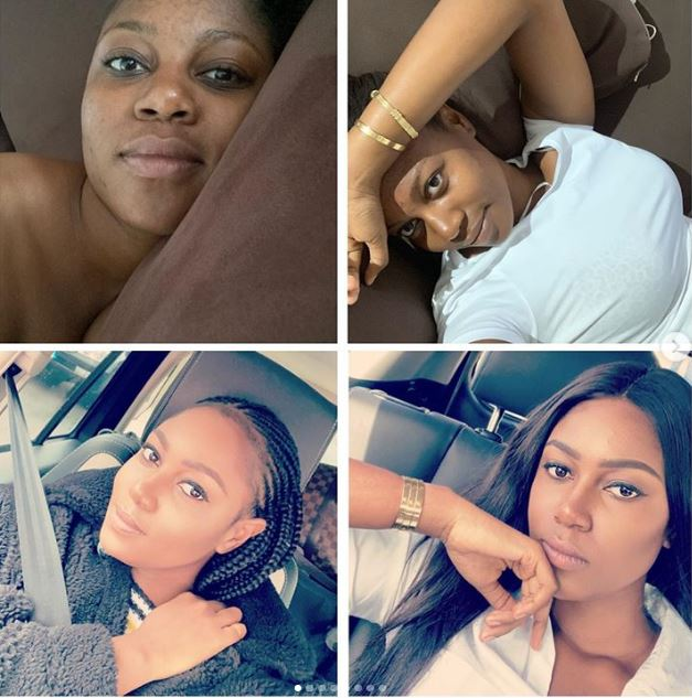 Yvonne Nelson no-makeup photo