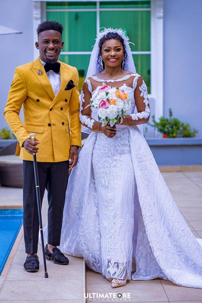 MC Rhelax and his wife tied the knot over the weekend