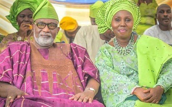 Rotimi Akeredolu and his wife, Betty