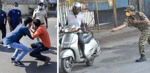 "See How Indian Police is Punishing ""Stay at Home"" offenders in India."