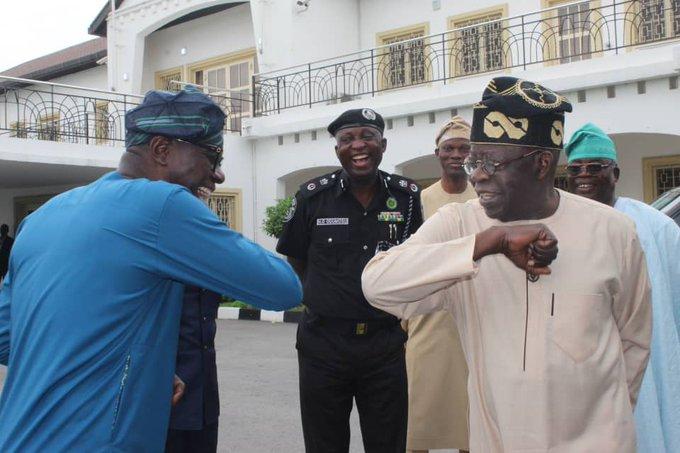 Governor Babajide Sanwo-Olu and Bola Ahmed Tinubu