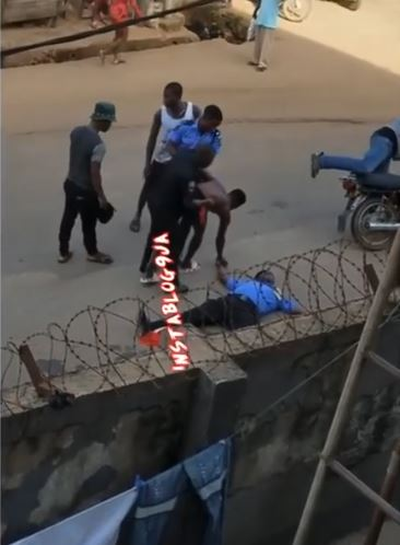 policeman faints