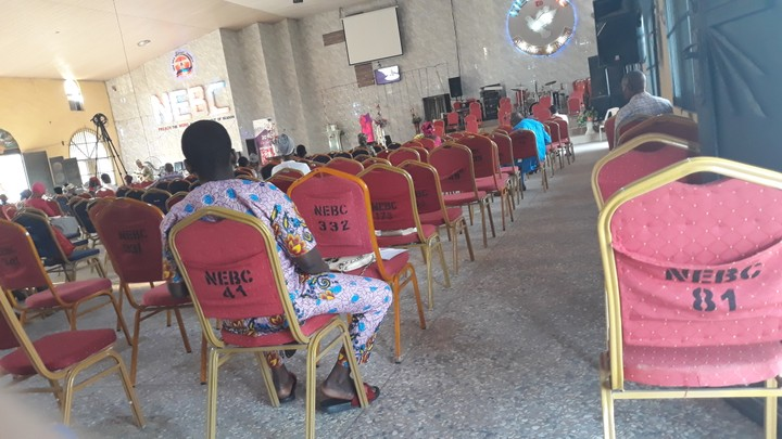 Social distancing observed inside church in Delta state