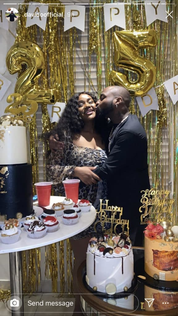 Chioma celebrates 25th birthday with Davido in grand style