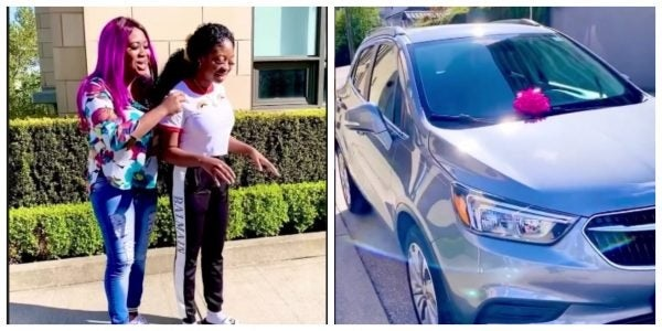 Lolo Bekeh blessed her younger sister with a car