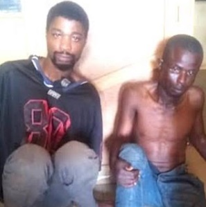 The suspects after they were arrested