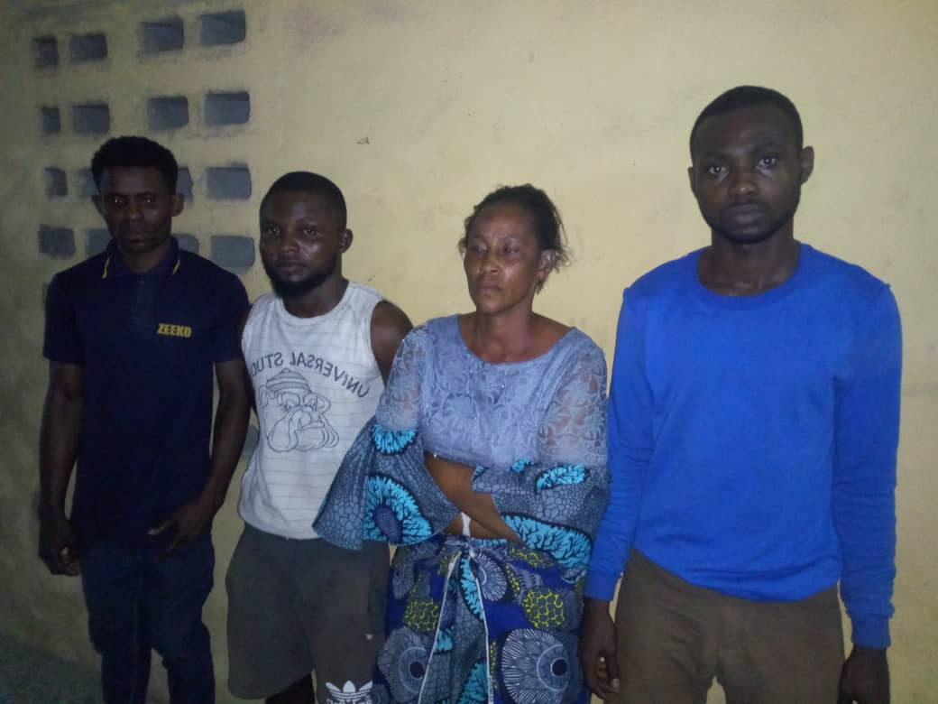 The suspects after they were arrested in Lagos