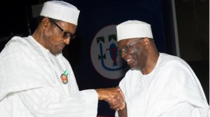 President Buhari and Gambari