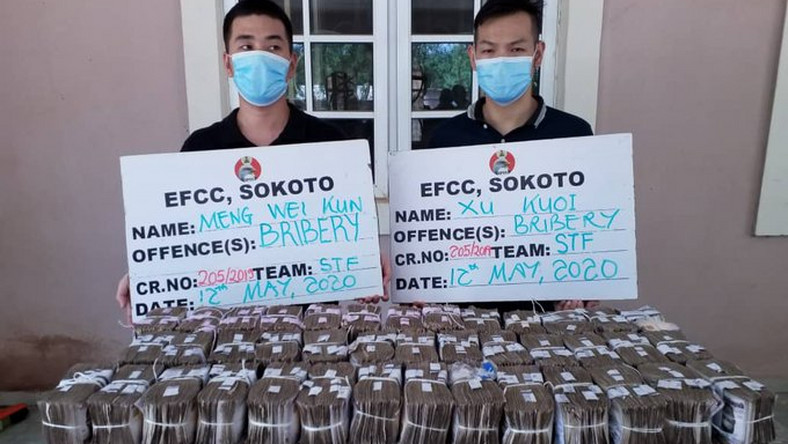 The two Chinese citizens who bribed EFCC agents with N100 million