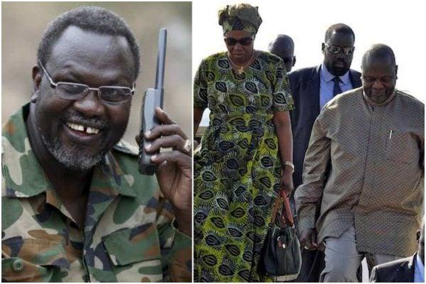 South Sudan's Vice President, Riek Machar and his wife Angelina Teny