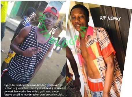 Chisom stabbed his brother to death while fighting over drink