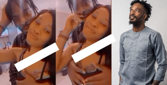 9ice caressing another woman