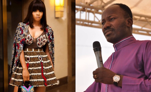 Toke Makinwa and Apostle Johnson Suleman