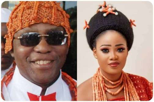 Oba of Benin and wife, welcome baby girl