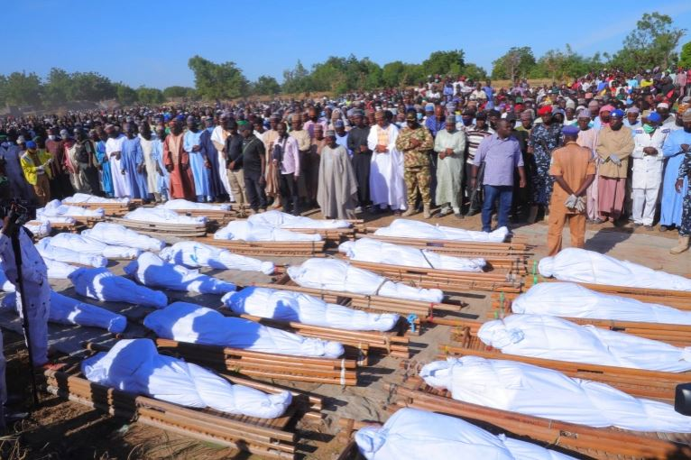 Farmers massacred by Boko Haram buried in Borno