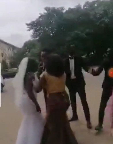 The bride took off after finding out her man's cheating ways