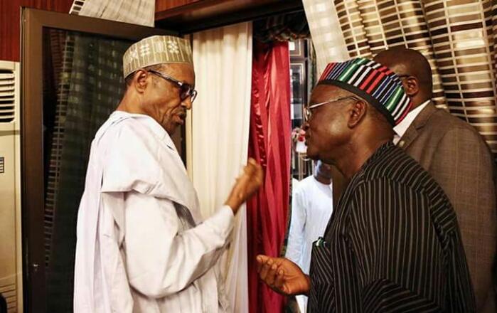 Muhammadu Buhari and Samuel Ortom