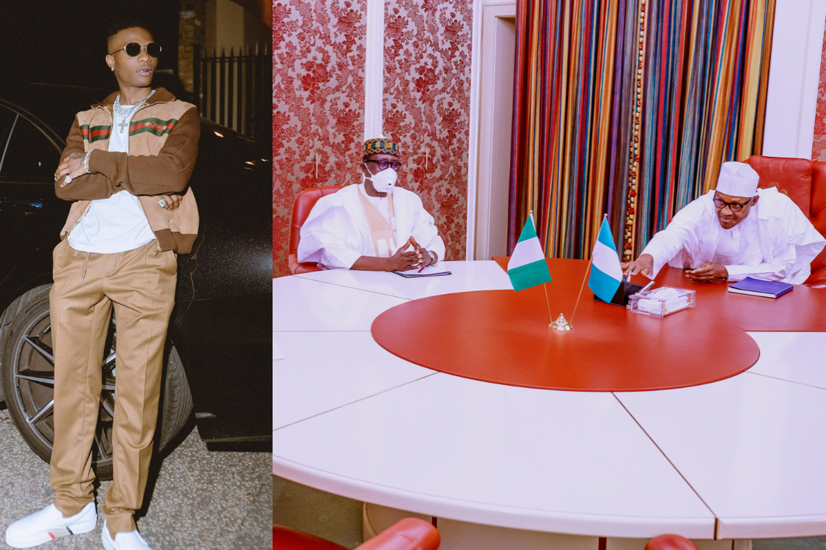 Wizkid reacts to President Buhari's new photos with his national security adviser