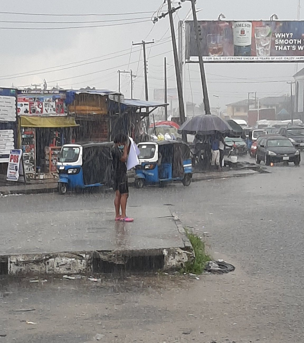 The female lone protester in Warri