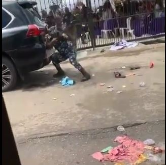 Police allegedly firing at protesters