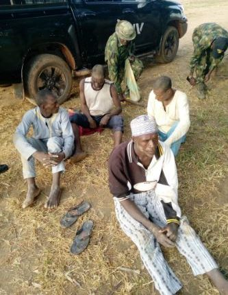 the four arrested bandits