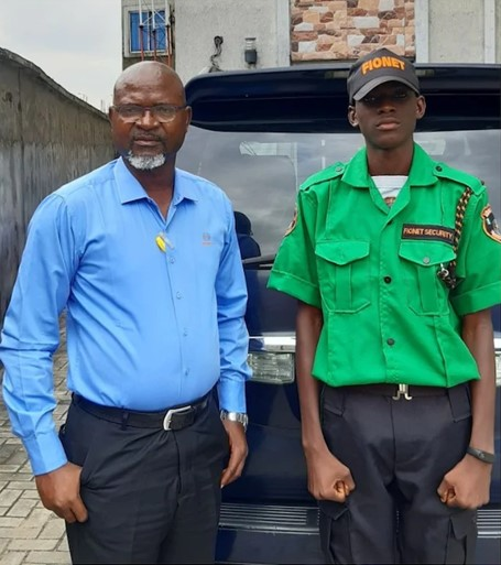 Felix Obazee and his son