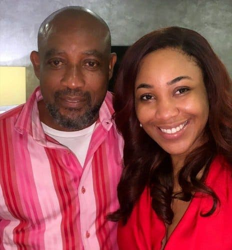 Erica posing with her dad
