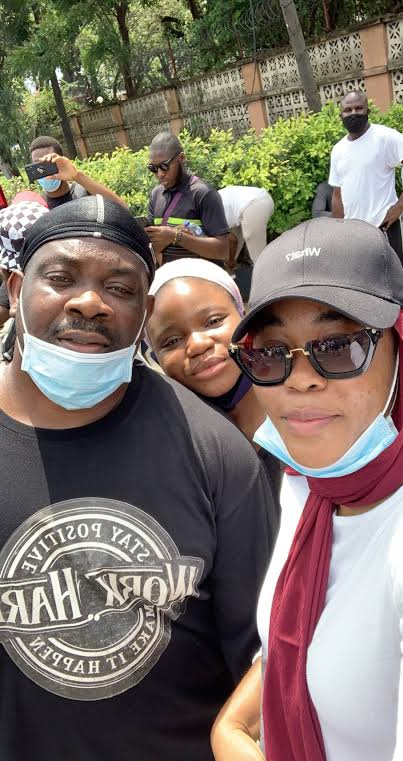 Don Jazzy protesting against SARS