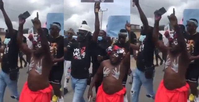 Native doctor joins protest in Delta