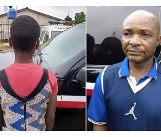 Charles Ekwe caught abusing a 13-year-old girl