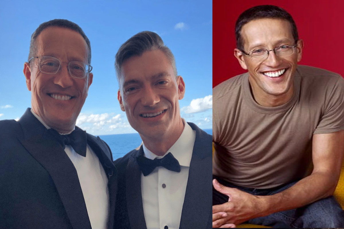 Richard Quest and his partner are now married