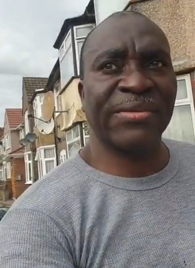 The Nigerian man cried out in a video