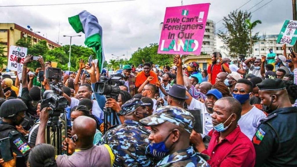 #EndSARS protesters take over streets in Nigeria