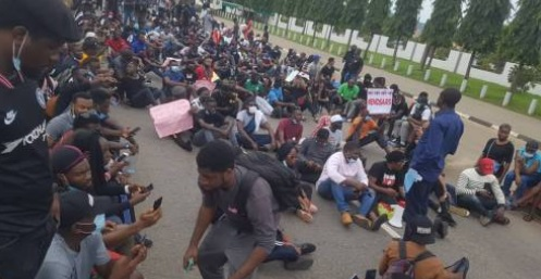 Protesters take over Alausa