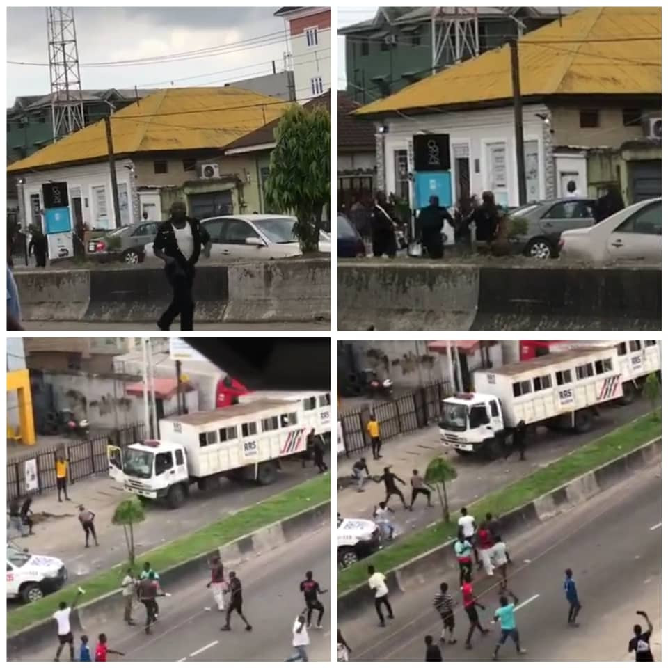 Thugs attack police in Lagos