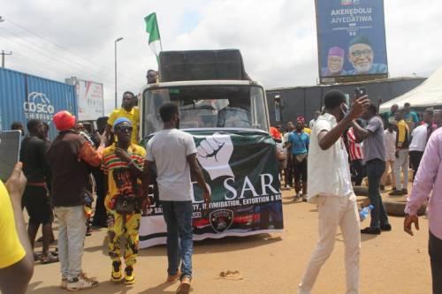 #EndSARS protesters in Ondo