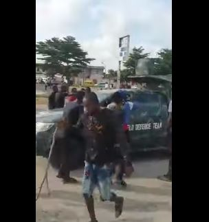Army van turned back in Lagos