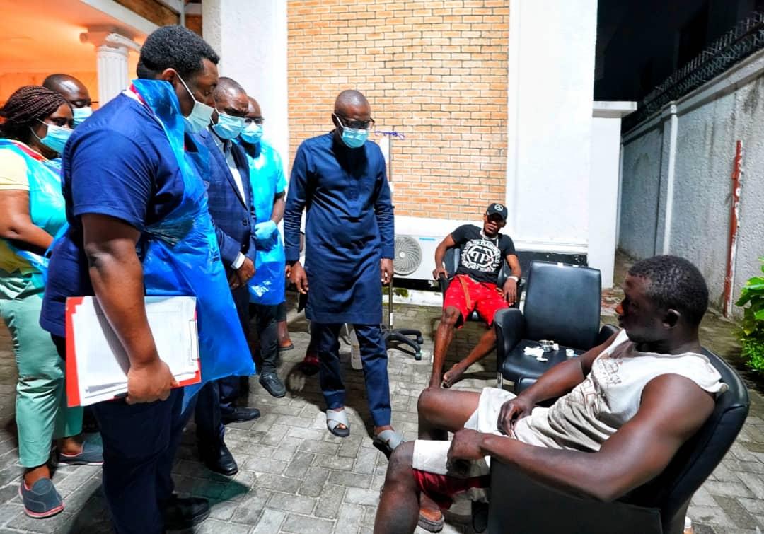 Sanwo-Olu visits victims